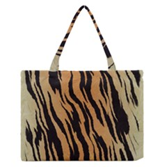 Tiger Animal Print A Completely Seamless Tile Able Background Design Pattern Medium Zipper Tote Bag