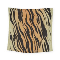 Tiger Animal Print A Completely Seamless Tile Able Background Design Pattern Square Tapestry (small)