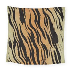 Tiger Animal Print A Completely Seamless Tile Able Background Design Pattern Square Tapestry (large)