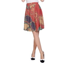 Vintage Chinese Brocade A-Line Skirt