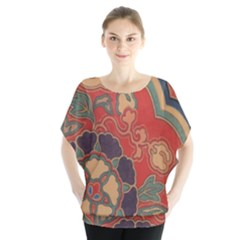 Vintage Chinese Brocade Blouse