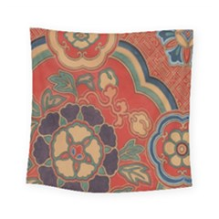 Vintage Chinese Brocade Square Tapestry (small)
