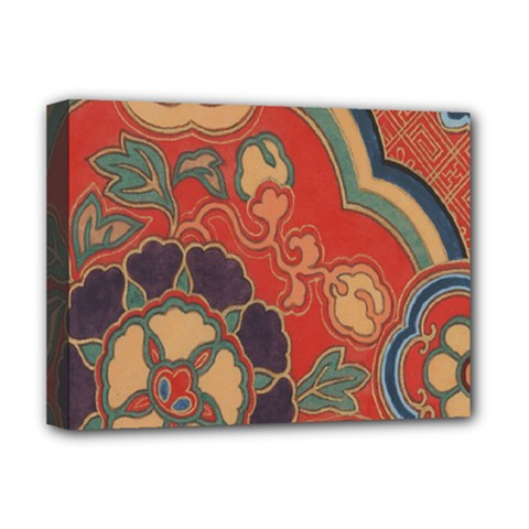 Vintage Chinese Brocade Deluxe Canvas 16  X 12