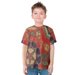 Vintage Chinese Brocade Kids  Cotton Tee