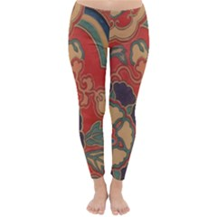 Vintage Chinese Brocade Classic Winter Leggings
