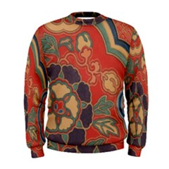 Vintage Chinese Brocade Men s Sweatshirt