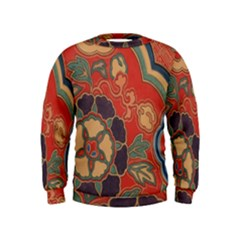 Vintage Chinese Brocade Kids  Sweatshirt