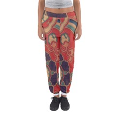 Vintage Chinese Brocade Women s Jogger Sweatpants