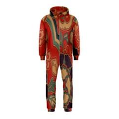 Vintage Chinese Brocade Hooded Jumpsuit (Kids)