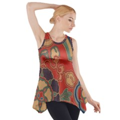 Vintage Chinese Brocade Side Drop Tank Tunic