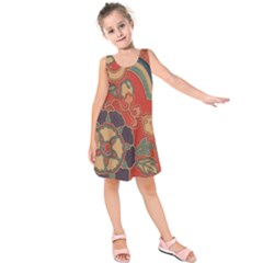 Vintage Chinese Brocade Kids  Sleeveless Dress