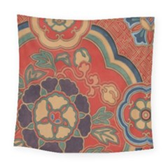 Vintage Chinese Brocade Square Tapestry (large)