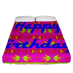 Happy Birthday! Fitted Sheet (california King Size)