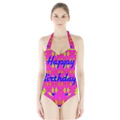 Happy Birthday! Halter Swimsuit