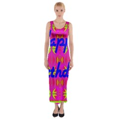 Happy Birthday! Fitted Maxi Dress