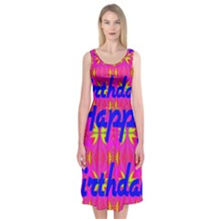 Happy Birthday! Midi Sleeveless Dress