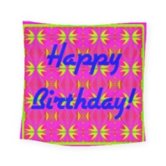 Happy Birthday! Square Tapestry (small)