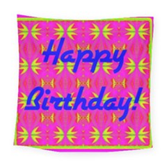 Happy Birthday! Square Tapestry (large)
