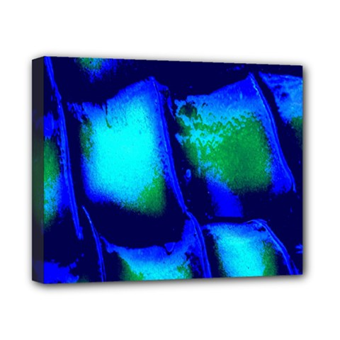 Blue Scales Pattern Background Canvas 10  X 8