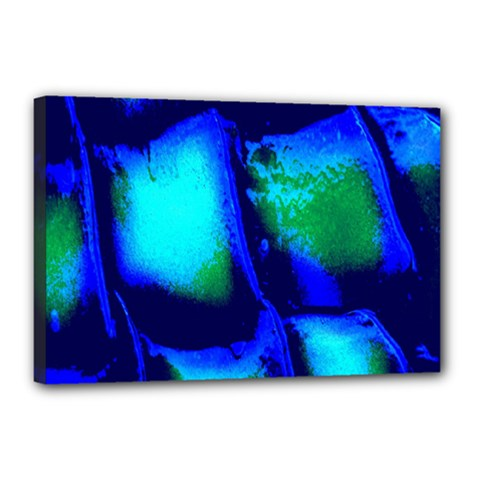 Blue Scales Pattern Background Canvas 18  X 12