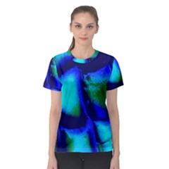 Blue Scales Pattern Background Women s Sport Mesh Tee