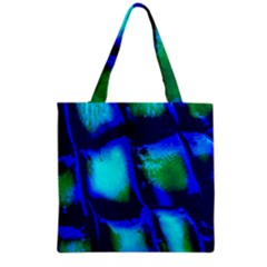 Blue Scales Pattern Background Grocery Tote Bag