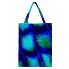 Blue Scales Pattern Background Classic Tote Bag