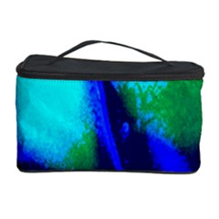 Blue Scales Pattern Background Cosmetic Storage Case