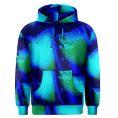 Blue Scales Pattern Background Men s Pullover Hoodie