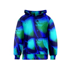 Blue Scales Pattern Background Kids  Pullover Hoodie