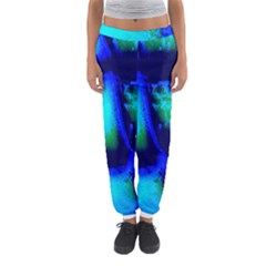 Blue Scales Pattern Background Women s Jogger Sweatpants