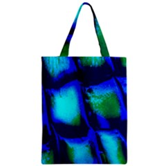Blue Scales Pattern Background Zipper Classic Tote Bag