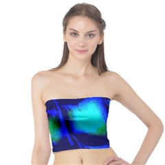 Blue Scales Pattern Background Tube Top