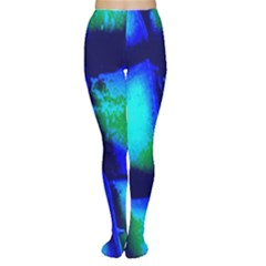 Blue Scales Pattern Background Women s Tights