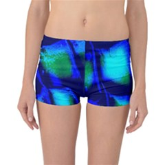 Blue Scales Pattern Background Reversible Bikini Bottoms