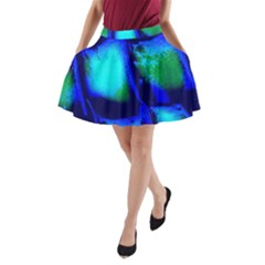 Blue Scales Pattern Background A Line Pocket Skirt