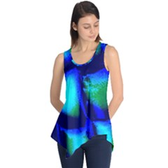 Blue Scales Pattern Background Sleeveless Tunic