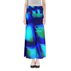 Blue Scales Pattern Background Maxi Skirts