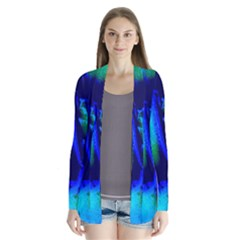 Blue Scales Pattern Background Cardigans