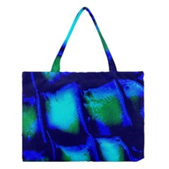 Blue Scales Pattern Background Medium Tote Bag
