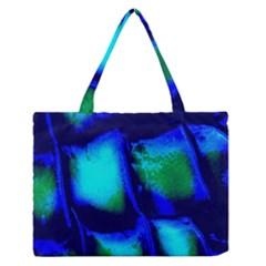 Blue Scales Pattern Background Medium Zipper Tote Bag