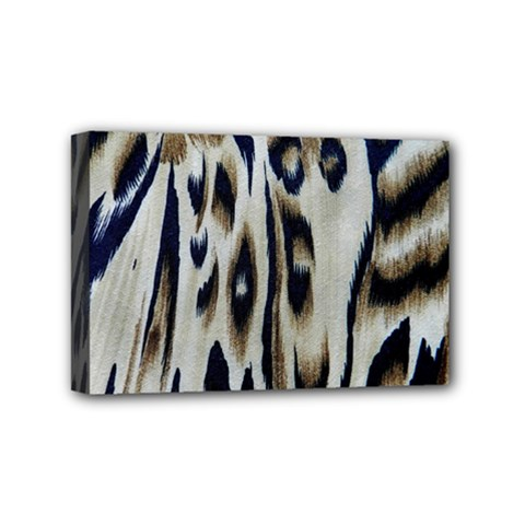 Tiger Background Fabric Animal Motifs Mini Canvas 6  X 4