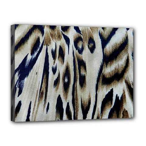 Tiger Background Fabric Animal Motifs Canvas 16  X 12