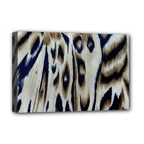 Tiger Background Fabric Animal Motifs Deluxe Canvas 18  x 12