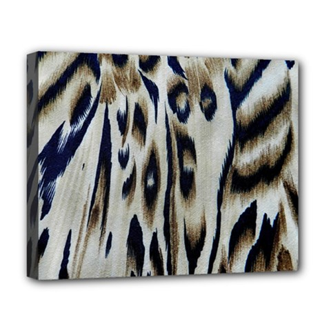 Tiger Background Fabric Animal Motifs Deluxe Canvas 20  X 16