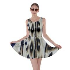 Tiger Background Fabric Animal Motifs Skater Dress