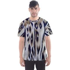 Tiger Background Fabric Animal Motifs Men s Sport Mesh Tee