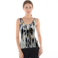 Tiger Background Fabric Animal Motifs Tank Top