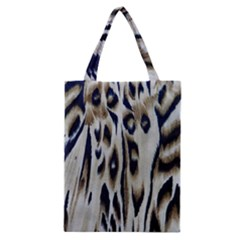 Tiger Background Fabric Animal Motifs Classic Tote Bag