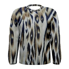 Tiger Background Fabric Animal Motifs Men s Long Sleeve Tee